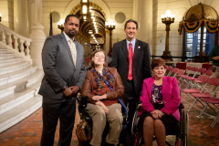 October 22, 2019: Senator Sharif Street joins Sen. Tartaglione at her Annual Disability Awareness Day at the Capitol.