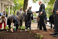 May 7, 2019:  Senator Street joins his fellow Legislative Hunger Caucus members at an event  to mark the opening of the 10th season of the Capitol Hunger Garden.