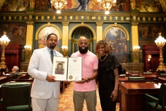 June 18, 2019: Senator Sharif Street honor Isaac Hamm III of IM3 Media who has done significant work nationally to honor, celebrate and preserve the legacy of Black Music in the United States.