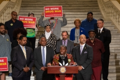 June 19, 2019:  Senator Street joins the Diasporic Alliance for Cannabis Opportunities (DAC), Minorities for Medical Marijuana (M4MM) and other cannabis advocates to emphasize the importance of social equity, expungement of records and financial and technical support for communities who've been ravaged by the War on Drugs.