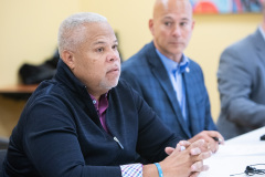 """December 9, 2019: Sens. Sharif Street and Anthony Williams were joined by Law and Justice Committee Chair Sen. Pat Stefano in Philadelphia  for a tour of nuisance liquor establishments known as """"Stop n Go"""" stores, which flout restaurant liquor regulations to serve shots of liquor to adults and bags of candy to children side by side."""