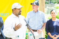 July 29, 2019 − Senator Sharif Street (D-Philadelphia) joined Pennsylvania Secretary of Agriculture Russel Redding to announce the state's first Urban Agriculture Grant Fund enacted through Senator Street's Urban Ag legislation in Act 40 of 2019.