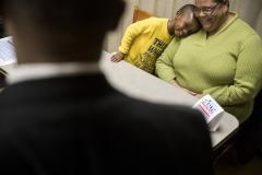 Sen. Vincent Hughes and Sen. Sharif Street at the ACA enrollment tour stop at the Shopright on Fox Street in Philadelphia, Nov. 16, 2017. James Robinson | Pennsylvania Senate Democratic Caucus