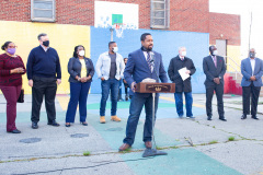 April 13, 2021: Sen. Street, along with Mayor Jim Kenney and other Philadelphia officials, held a news conference in North Philadelphia  today to announce 30 days of food distribution that will deliver 6,000 meals to local residents during the holy month of Ramadan. The program is a partnership between Street and Philabundance, the city's leading hunger prevention organization.