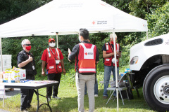 September 10, 2021: Sen. Street visited Philadelphia's Multi-Agency Resource Center, a partnership of the city, state and local agencies, including the Salvation Army and the Red Cross, to provide help for residents affected by historic flooding in the aftermath of Hurricane Ida.