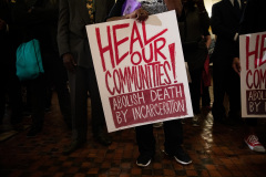 October 23, 2019: : Senator Street participates in End Death By Incarceration Rally in the Capitol Rotunda.
