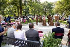 June 15, 2021: Senator Sharif Street speaks at  Toni Morrison Bench Dedication Harrisburg as part of first African American monument
