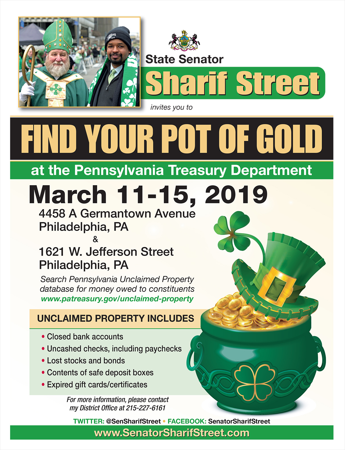 Find Your Pot of Gold - March 11-15