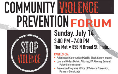 Sen. Sharif Street and Philadelphia Legislators to Host Violence Prevention Forum