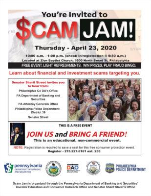 Scam Jam - Thursday - April 23, 2020