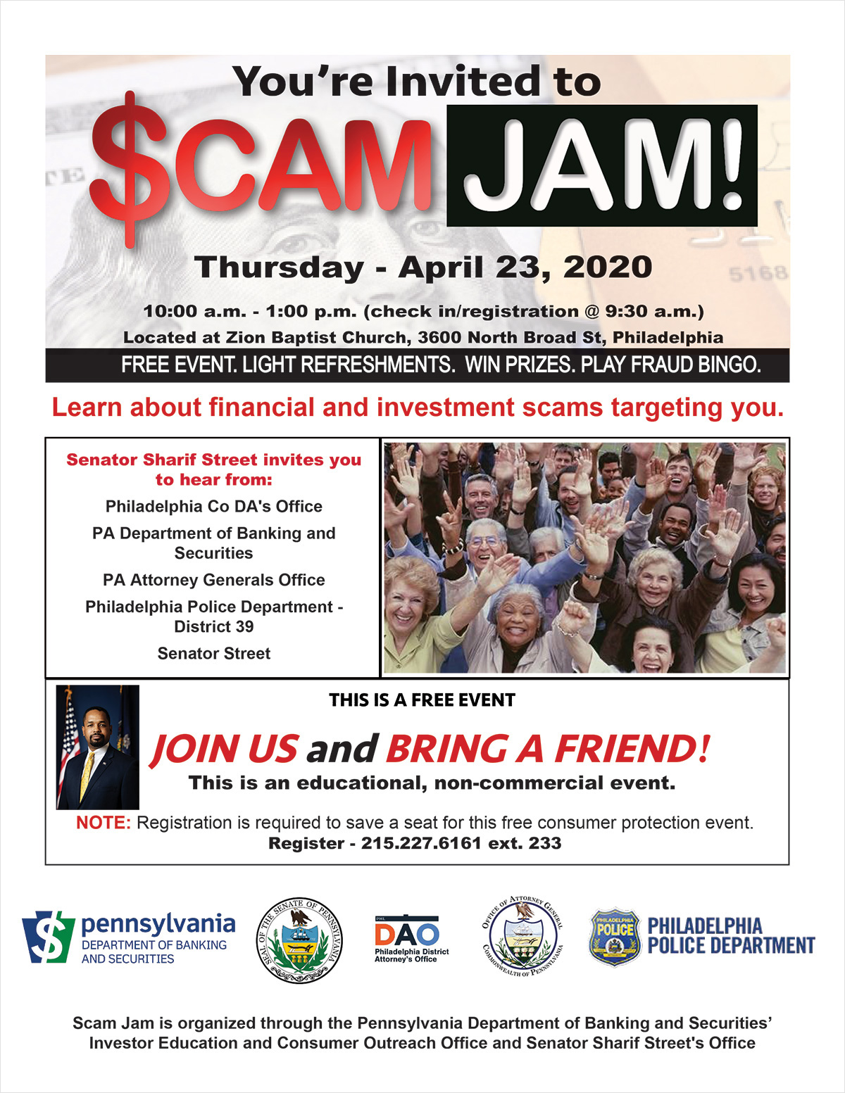 Scam Jam - Thursday - April 23, 2020