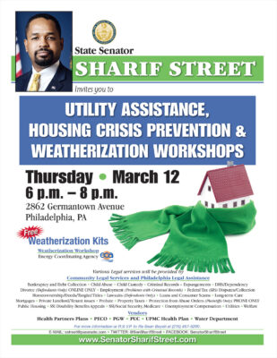 Utility Assistance, Housing Crisis Prevention & Weatherization Workshops