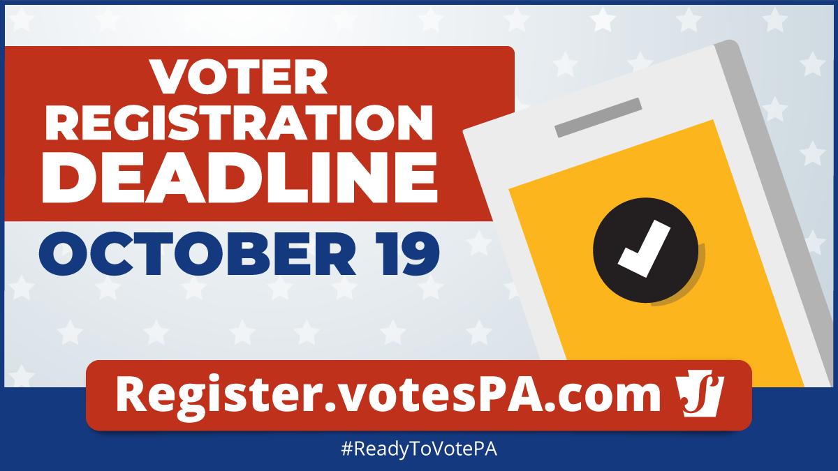 Voter Registration Deadline - October 19